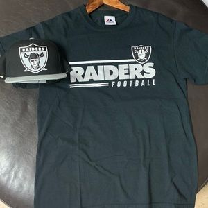 Raiders Shirt with Snap Back Hat